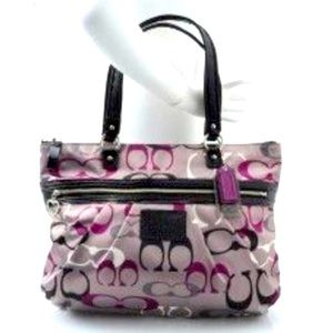 Coach Daisy Poppy Optic Glam Tote